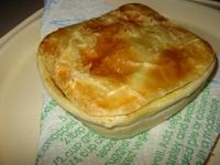 This month's recipe is CHICKEN PIES WITH BACON AND MARJORAM