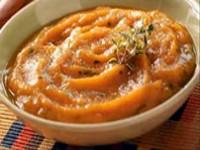 Image: Roasted Garlic and Sweet Potato Soup Recipe