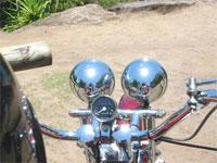 Image: Decibels,helmets and dangerous driving.
