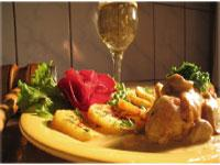 Image: This months recipe is: Chicken breasts in champagne.