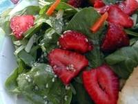 Image: This month's recipe: Strawberry Spinach Salad