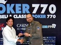 Julian Galan is the winner of the 2nd stage of the Marbella Classic Poker 770