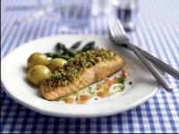 Image: Parmesan & Parsley-crusted Salmon.
