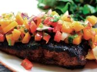 Image: Cajun Blackened Salmon with Black eyed bean salsa - The Recipe by the Chef at Cocomo